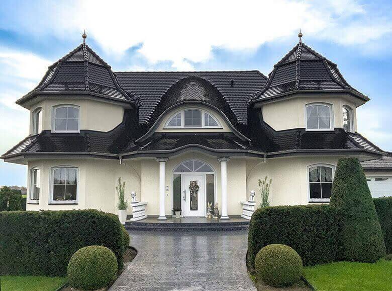 Luxus-Häuser Neubau mur mit Stilhaus